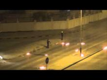 "Embedded thumbnail for Bahrain : Angry demonstrators attacking riot police with molotov ""Stop  Formula1"""