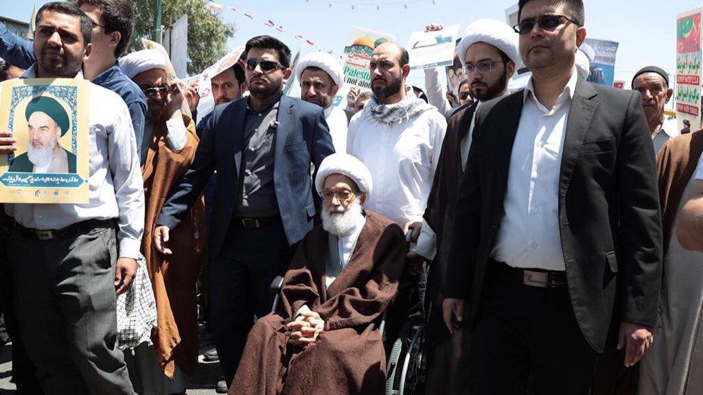 الفقيه القائد آية الله قاسم يشارك في تظاهرات «يوم القدس العالمي» في قم المقدسة