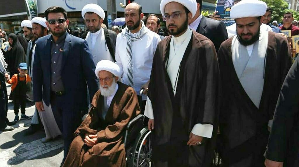 Ayatollah Qassem from the march of Al-Quds Day: The purpose of this day's gathering is the rise of the nation to regain its rights