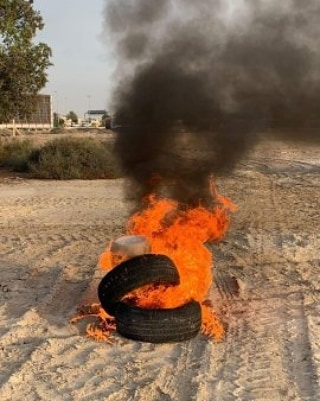 Revolutionaries of Al-Qadim town trigger the flames of anger to reject the infamous Trump's deal