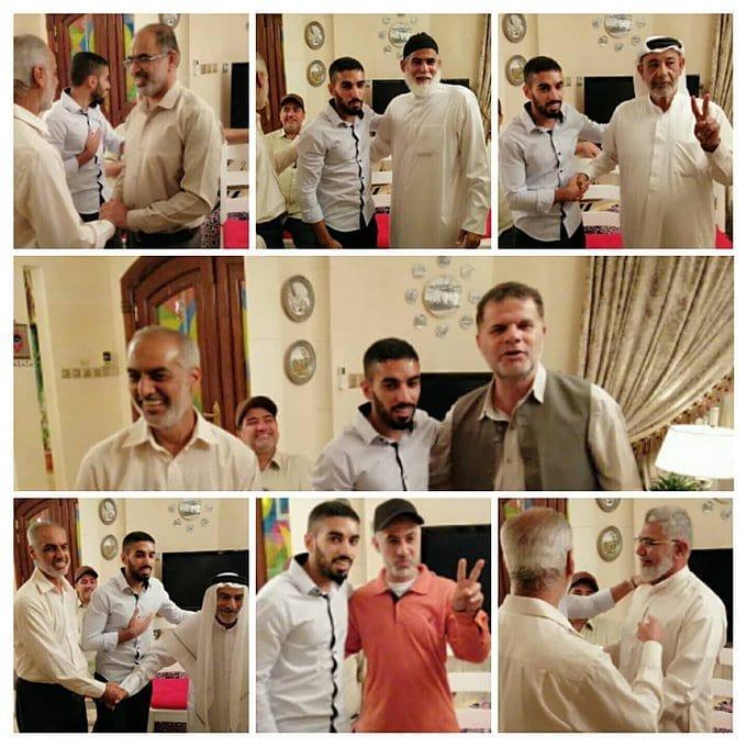 استقبال حافل بالصمود للشاب الحرّ ياسر موالي