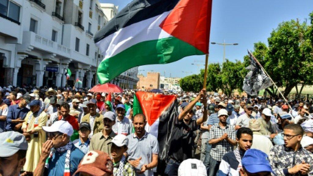 تظاهرات في المغرب ضدّ«مؤتمر العار» في المنامةورفضًا لأيّ مشاركة مغربيّة فيه