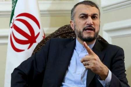 عبد اللهيان يستنكر تأييد «وزير الخارجيّة الخليفيّ» للعدوان «الصهيونيّ» على الدول العربيّة