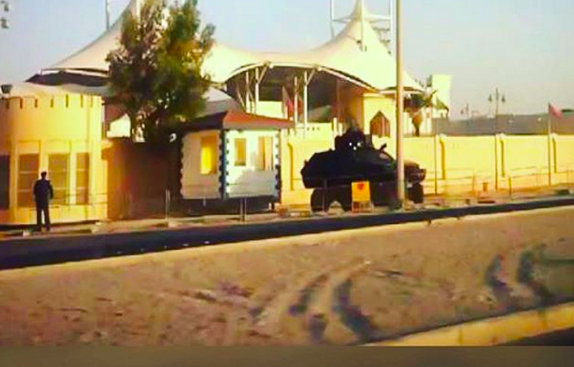 Elements of al-Khalifa mercenaries break into the wards and attack detainees on hunger strike