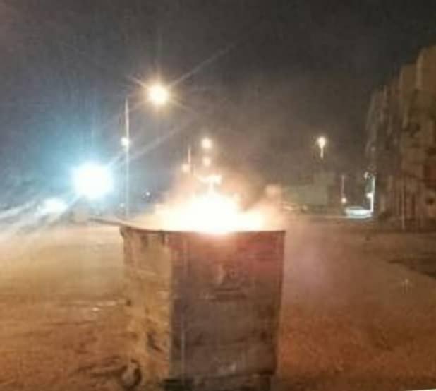 شوارع المعامير تشهد حراكًا غاضبًا تضامنًا مع المعتقلين المضربين عن الطعام