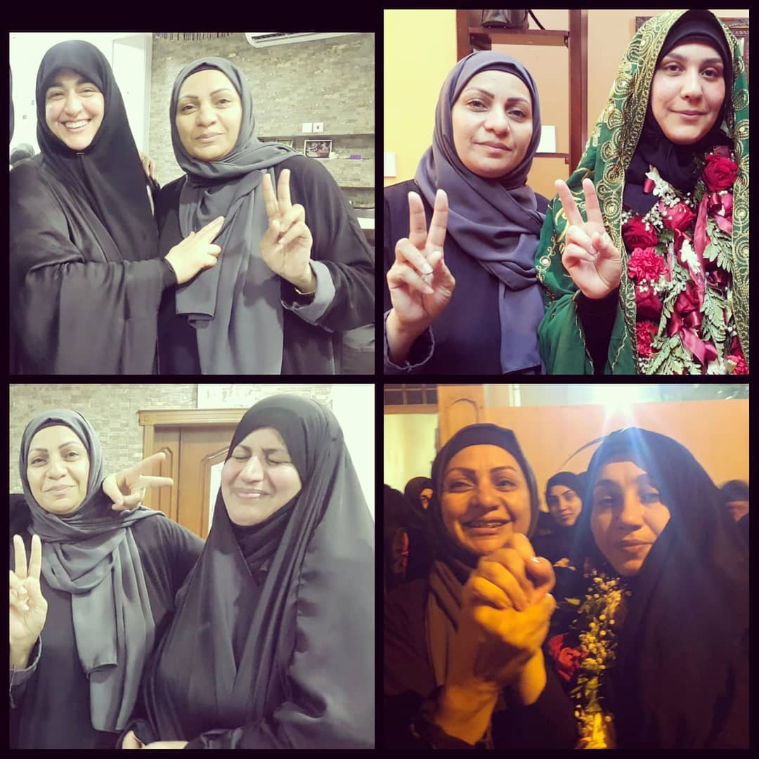 The 4 released women from al-Khalifa's prisons carry out alternative sanctions today