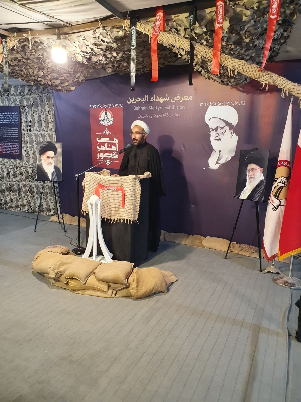 Extensive Interaction with Sections of Bahrain Martyrs Exhibition on its Fourth Day