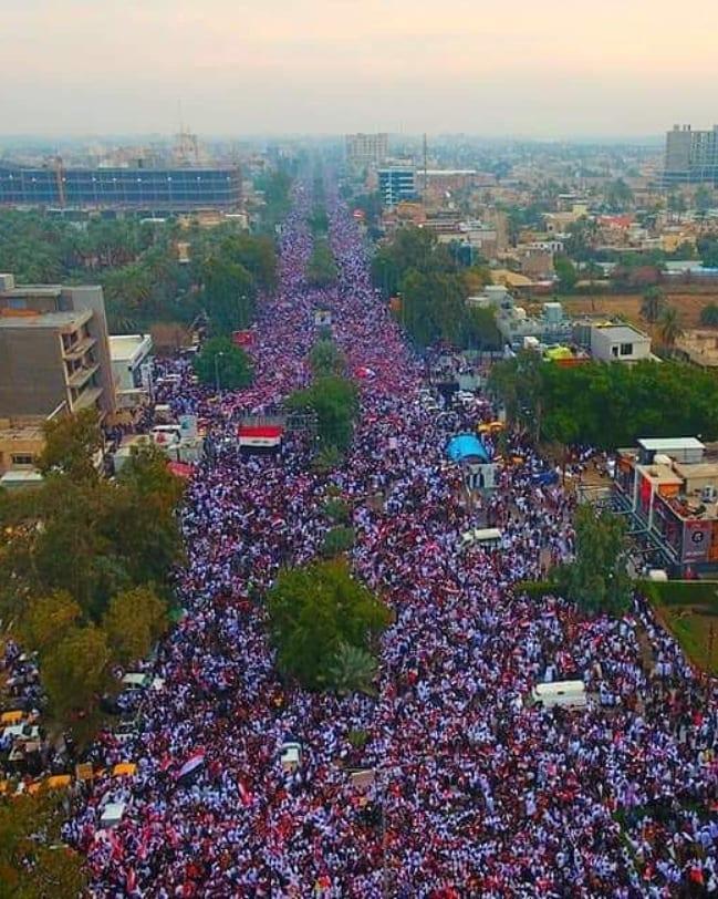 ائتلاف 14 فبراير: مليونيّة ثورة العشرين الثانية هي أولى بشائر السيادة وتحرير الأراضي العراقيّة من الاحتلال الأمريكيّ