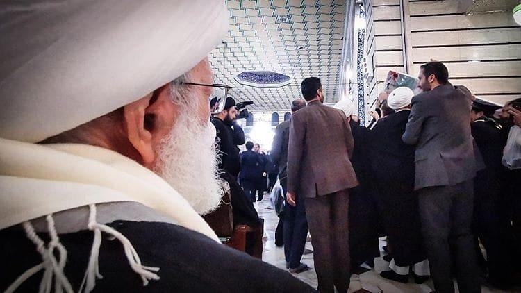 Faqih Qassem Participates in Funeral of Martyrs Soleimani , al-Muhandis, and their companions in Qom