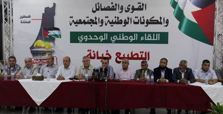 ردود فعل فلسطينية دينية وسياسية تستنكر التطبيع الإماراتي الصهيوني