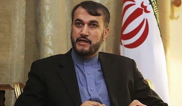 عبد اللهيان: زيارة وزير خارجيّة آل خليفة لأراضي فلسطين المحتلة استمرار لعرض سيرك التطبيع