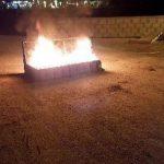 رفع أعمدة الغضب غرب المنامة واستمرار رفض الإساءة للرسول «ص»