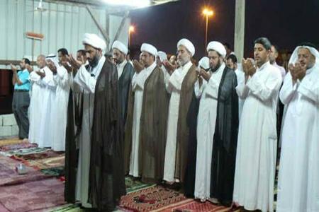 احتشاد جماهیري في «البقعة الطاهرة» لمسجد الإمام العسكري في «مدينة الزهراء»