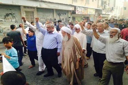 تظاهرة حاشدة وسط «بلدة السنابس» غضبًا لأجل الشهيد «العبّار»