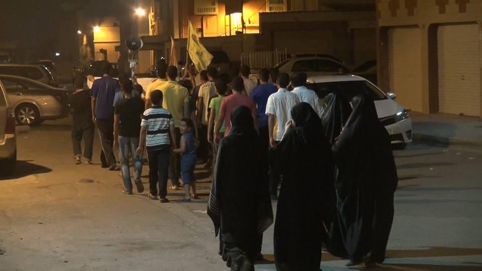 تظاهرة «رغم إرهابكم مستمرّون» غرب «البحرين»