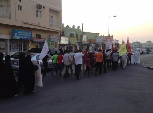 تظاهرة تضامنيّة مع الشيخ «حسن عيسى» في المصلّى وإسكان جدحفص