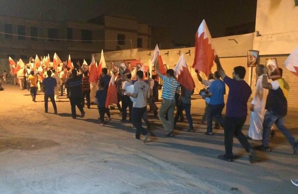 مسيرتان في «غرب المنامة» دعمًا لاعتصام «ميدان الفداء»