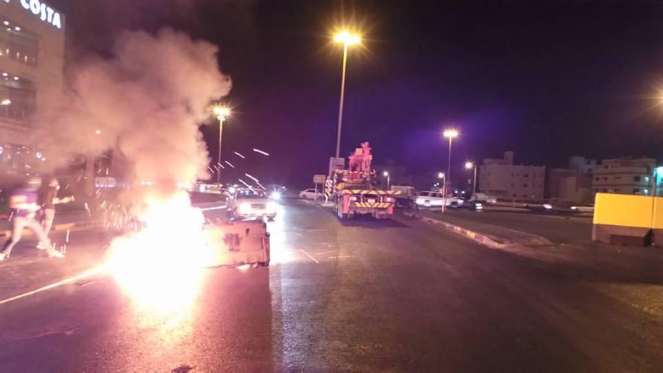تظاهر غاضب «غرب المنامة» دعمًا لاعتصام «ميدان الفداء»