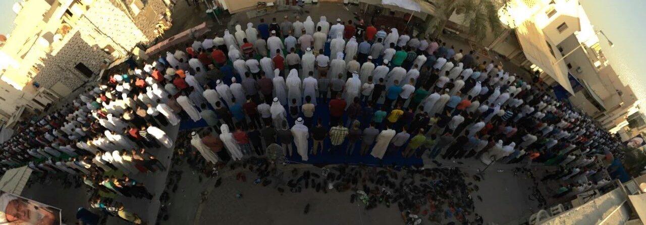 بالصور: صلاة عيد الفطر المبارك تقام في «ميدان الفداء»