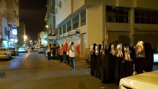 وقفة تضامنيّة مع «آية الله قاسم» في العاصمة المنامة