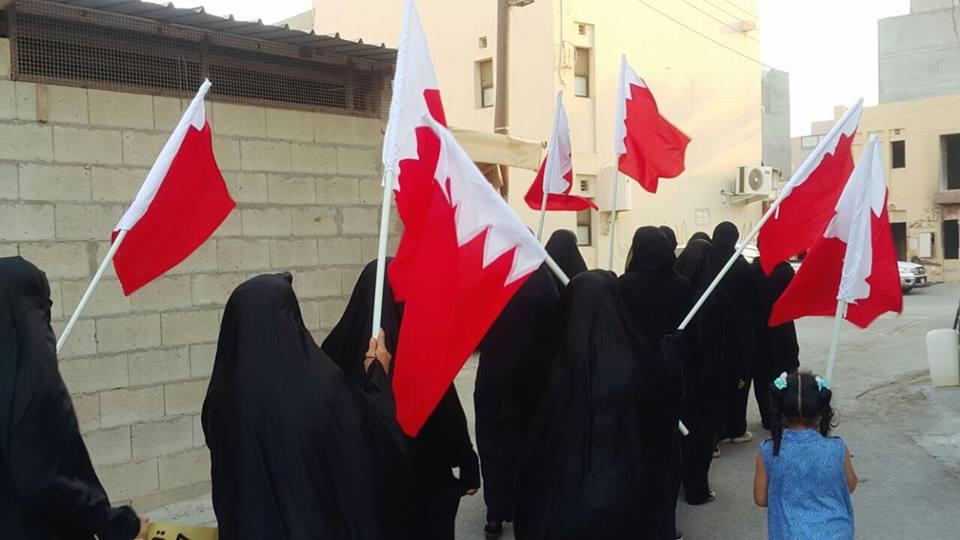 نسويّة الائتلاف في مسيرة المعامير: متمسّكون بحقّ تقرير المصير