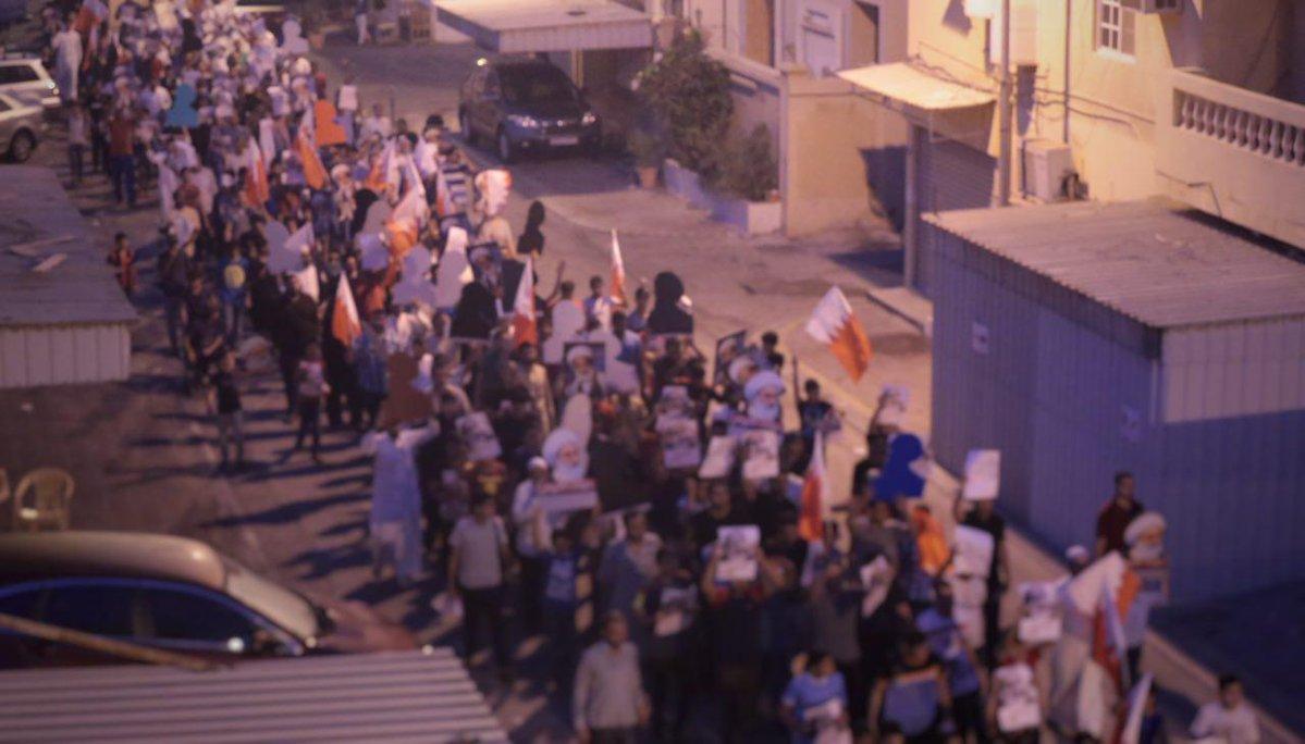 تظاهرة حاشدة «فجر 14 أغسطس» غرب المنامة