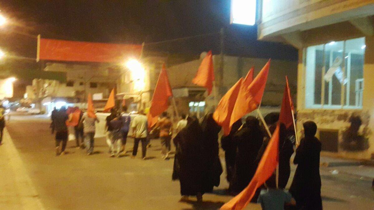 تظاهرة في «جزيرة المحرق» رفضًا للقضاء الخليفيّ الفاسد