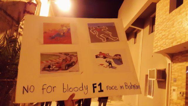 رسائل موجّهة للفرق المشاركة في «الفورمولا»..أوقفوا السباق في البحرين!