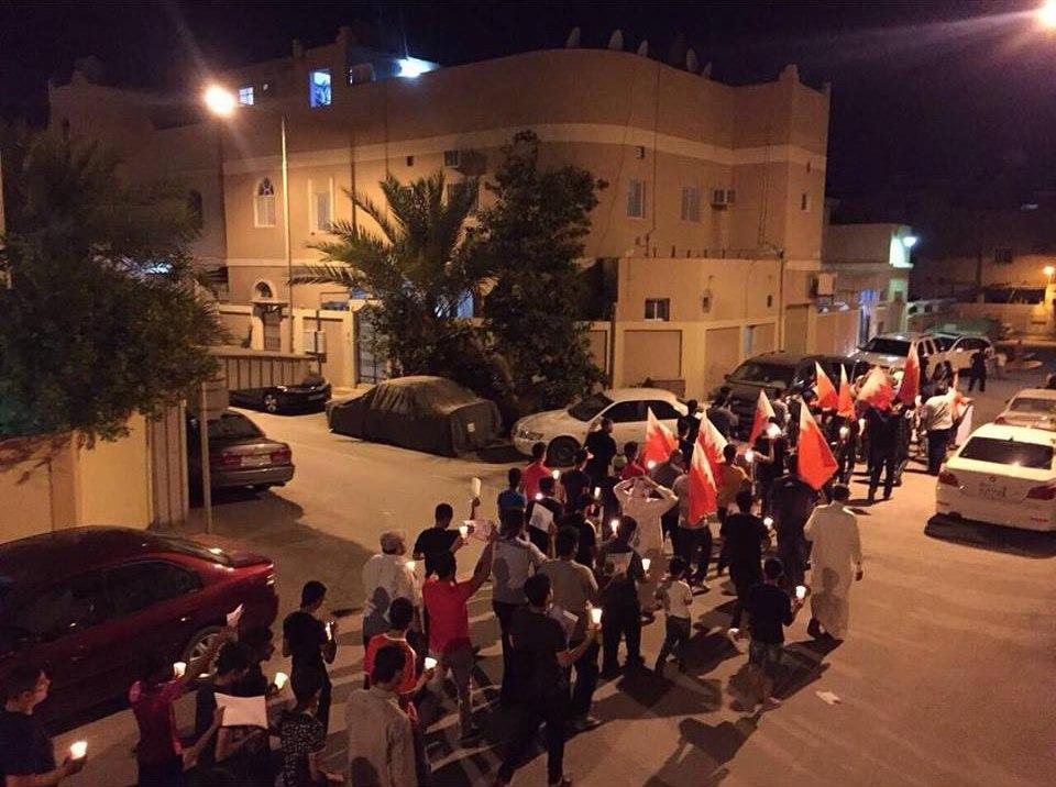 مسيرة تأبينيّة للشهيد «صلاح عباس» غرب المنامة