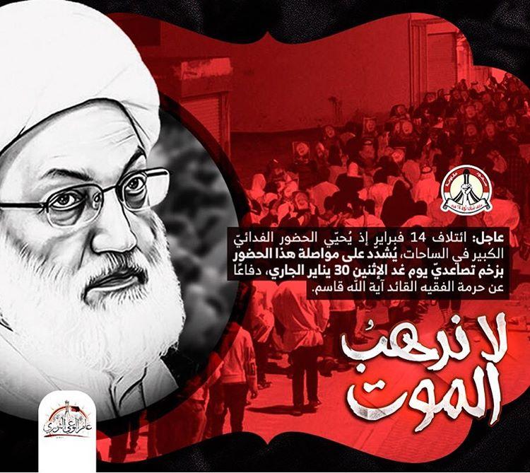 «ائتلاف 14 فبراير» يحيّي الجماهير لخلقها المشهد الثوريّ المهيب