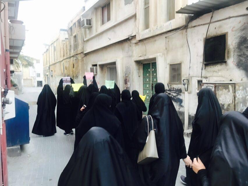 حرائر البحرين يتظاهرن «غرب المنامة» غضبًا لأسيرات الثورة