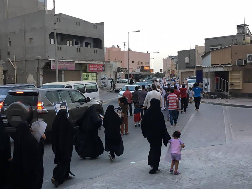 أهالي كرزكان يتظاهرون انتصارًا لمقام «الفقيه قاسم»
