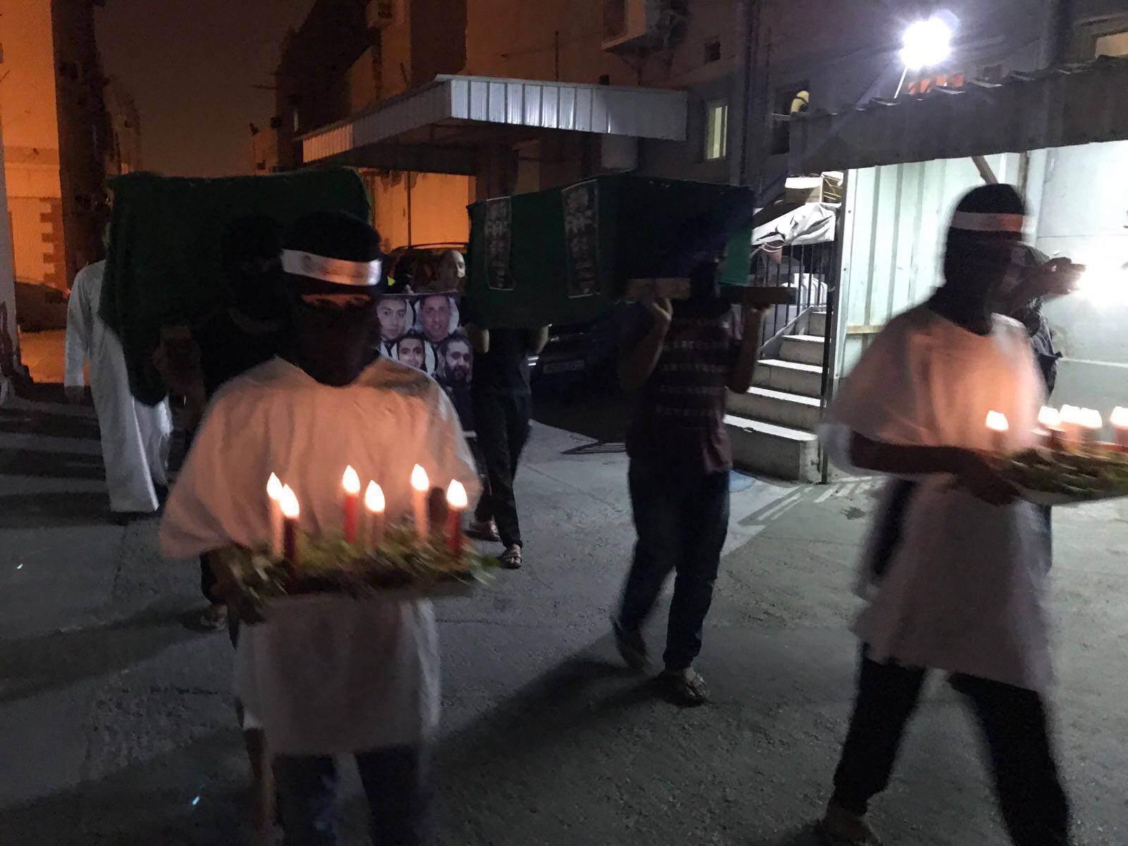 تضامنًا مع القطيف.. أهالي عالي يقيمون زفافًا رمزيًّا لشهدائها