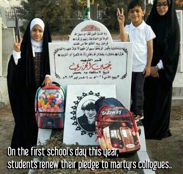 On the first school's day this year, students renew their pledge to martyrs collogues