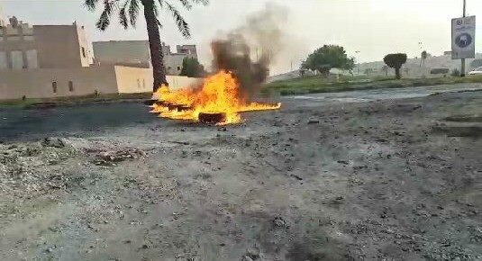 شارع «سوق واقف» يشهد حراك غاضب تضامنًا مع المعتقلين السياسيين