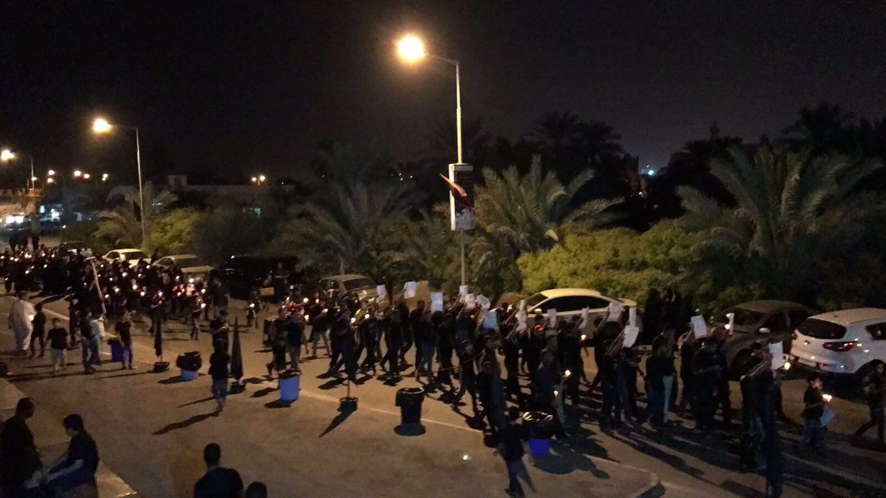 مسيرات القواسم ليلة الثامن..بين «عاشوراء البحرين» و «ملحمة الطف»