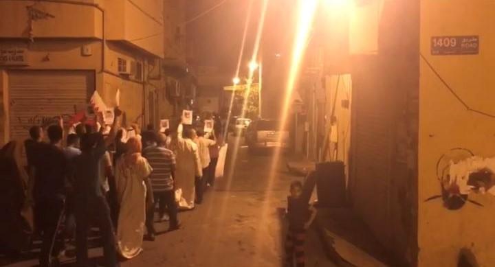 تظاهرة «غرب المنامة » تندّد بتصاعد حملة اعتقال الأطفال