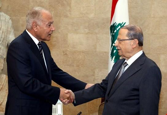 عون لأبو الغيط: لبنان لا يمكن أن يقبل الإيحاء بأن حكومته شريكة في أعمال إرهابية