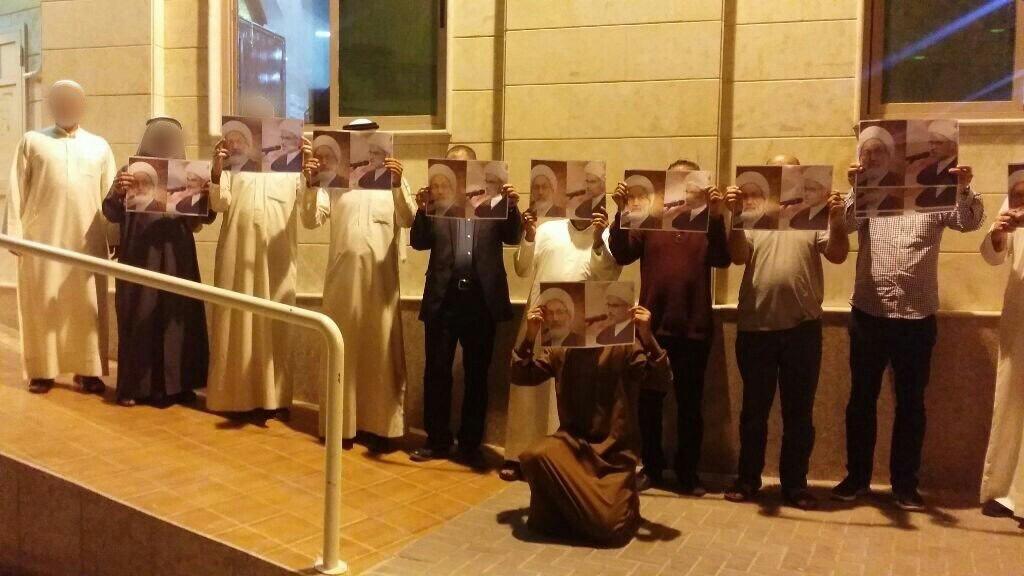 أهالي بلدة عالي ينظّمون وقفة ثوريّة انتصارًا للعلماء المعتقلين