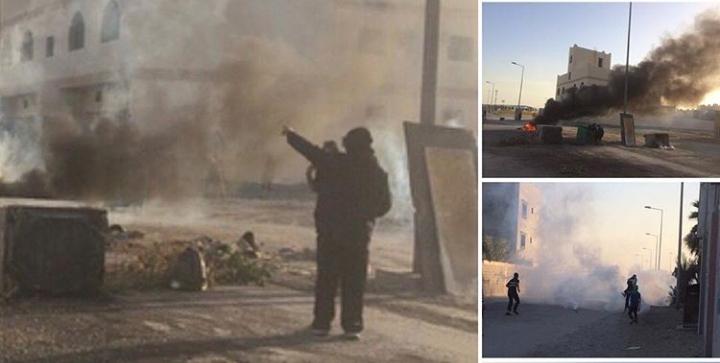 تظاهرة غاضبة «جنوب المنامة» استعدادًا لذكرى ثورة فبراير