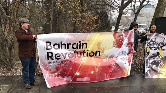 بالصور: وقفة احتجاجيّة أمام السفارة السعوديّة في برلين