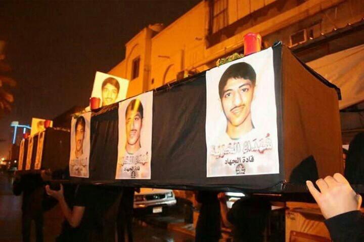 تشييع رمزيّ للشهيد «حسن البحراني» ومظاهرات وفاء لدمائه الزكيّة