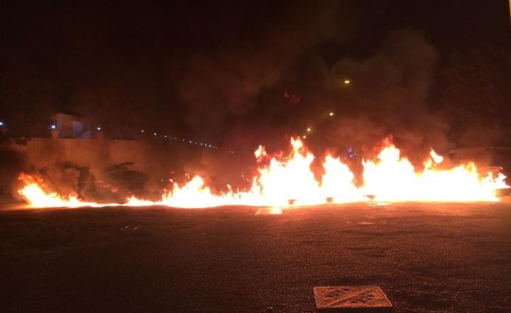أبطال الميادين في بلدة سار يشعلون نيران الغضب «غرب المنامة»