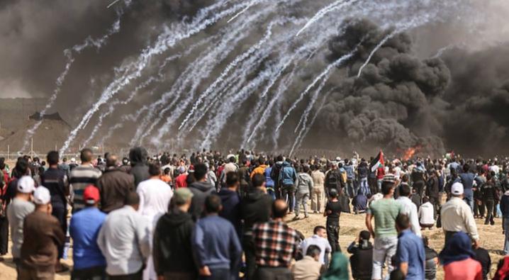 ائتلاف 14 فبراير يشيد باستمرار مسيرات العودة في فلسطين