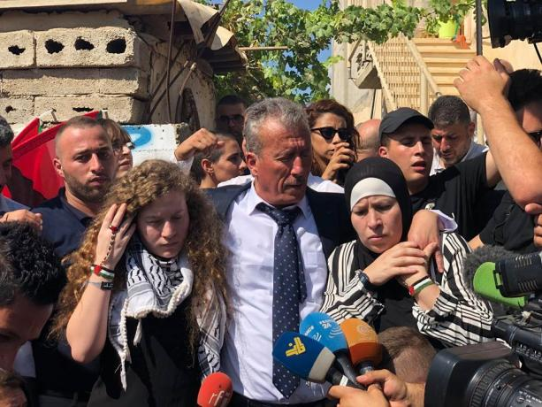 Women's Committee of 14 Feb coalition hails struggler «Ahed Tamimi» , and congratulates Palestinian people on her freedom