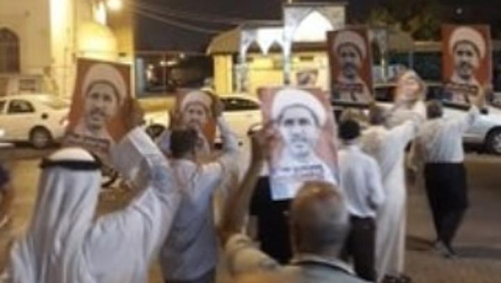 اهالي البلاد القديم يتظاهرون تضامنًا مع الشيخ علي سلمان عشيّة محاكمته