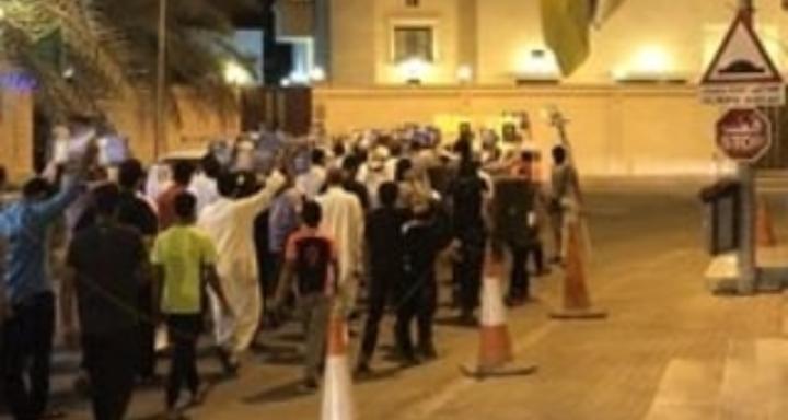 أهالي أبو صيبع والشاخورة يتظاهرون تحت شعار «ماضون حتى النصر»