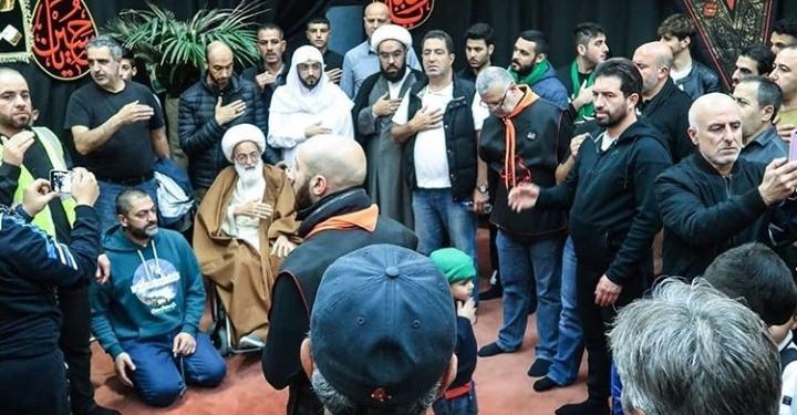 الفقيه القائد آية الله قاسم يشارك في مجلس عزاء حسينيّ في لندن