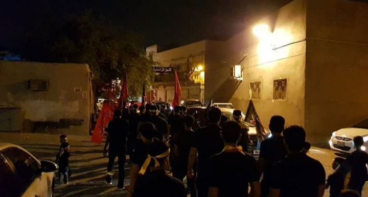 Martyr's procession  begins in the town of Musalla