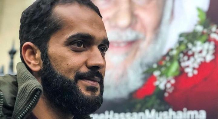 الناشط «علي مشيمع» يواصل اعتصامه على الرغم من برودة الطقس